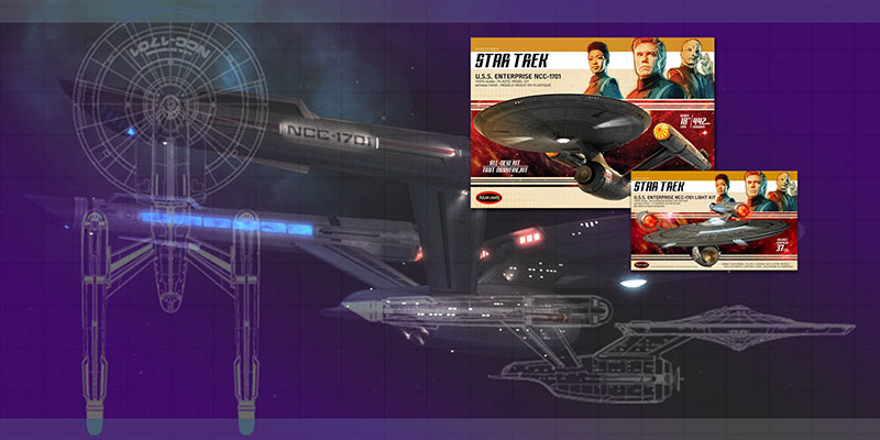 Review – Discovery U.S.S. Enterprise NCC 1701 Polar Lights 18″ Decals