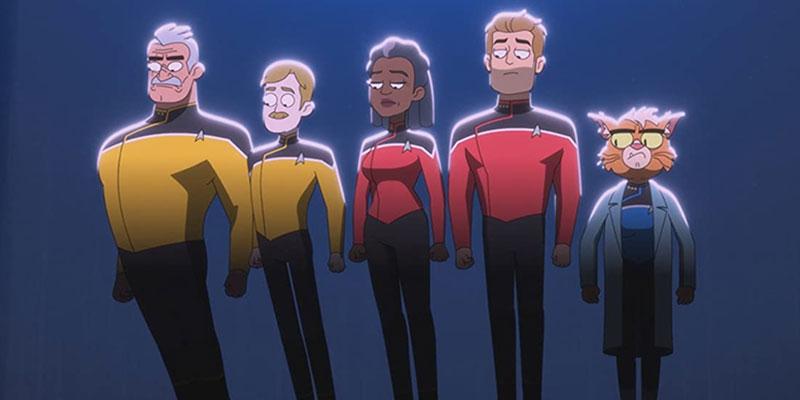 Lieutenant Shaxs, Lieutenant Commander Billups, Captain Freeman, Commander Ransom & Dr T'Ana