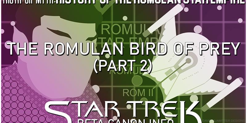 Romulan Bird of Prey Part 2 Header